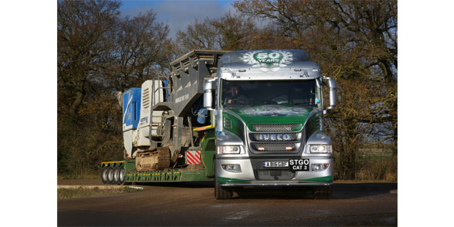G&B Finch commission heavy-haulage bonneted IVECO Strator X-WAY for 50th Anniversary