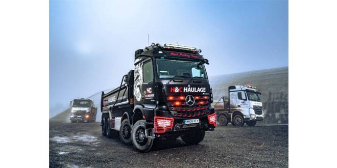 H&C Haulage goes bananas for its Mercedes-Benz 'Muck Monkey' and Rygor's back-up