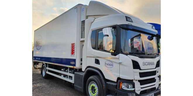 Tican Chilled switches to diesel-free refrigeration for sustainable green fleet initiative