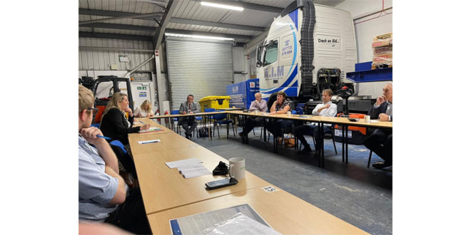Minister meets with logistics UK and member organisation A.I.M Commercial Services in urgent recruitment push for hauliers