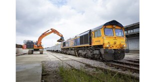 One million HGVs to be taken off the roads as first train departs HS2 Willesden Logistics Hub