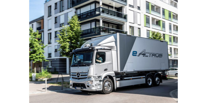 The eActros sets benchmarks in CO2-neutral goods transport