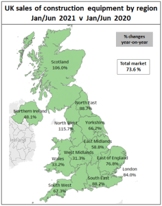 sales on a regional basis map