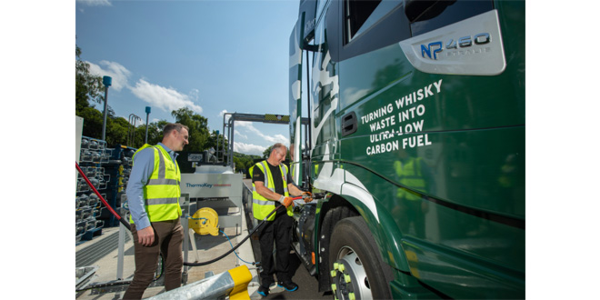 Scottish distiller Glenfiddich pioneers innovative decarbonisation of transport operations