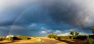 Arc en ciel sur le camping