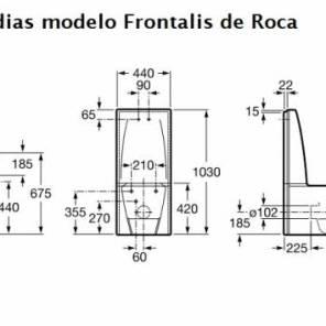 Medidas del Inodoro Frontalis
