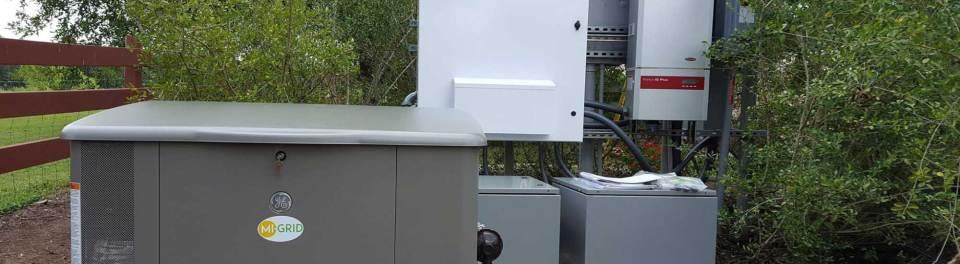 Mi-grid panel outside