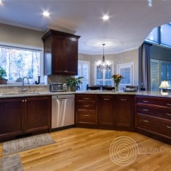 Custom Kitchen Barbecue Traditional Remodel Cabinets Atlanta Ga Looking Out To Living Area