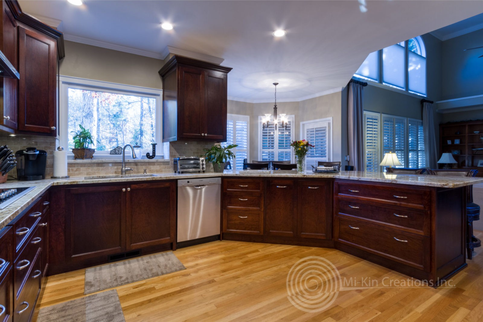 custom kitchen home and stores traditional remodel cabinets atlanta ga looking out to living area
