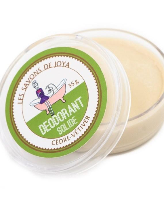 Desodorante Natural Sólido de Cedro y Vetiver