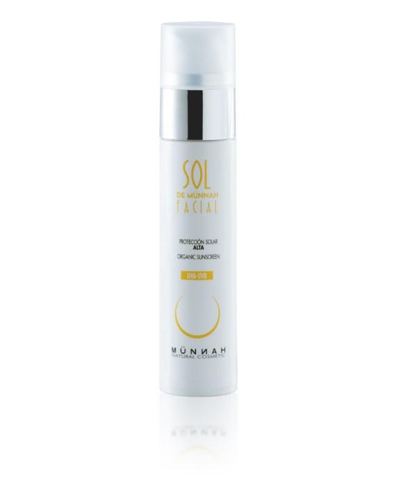 crema solar facial natural