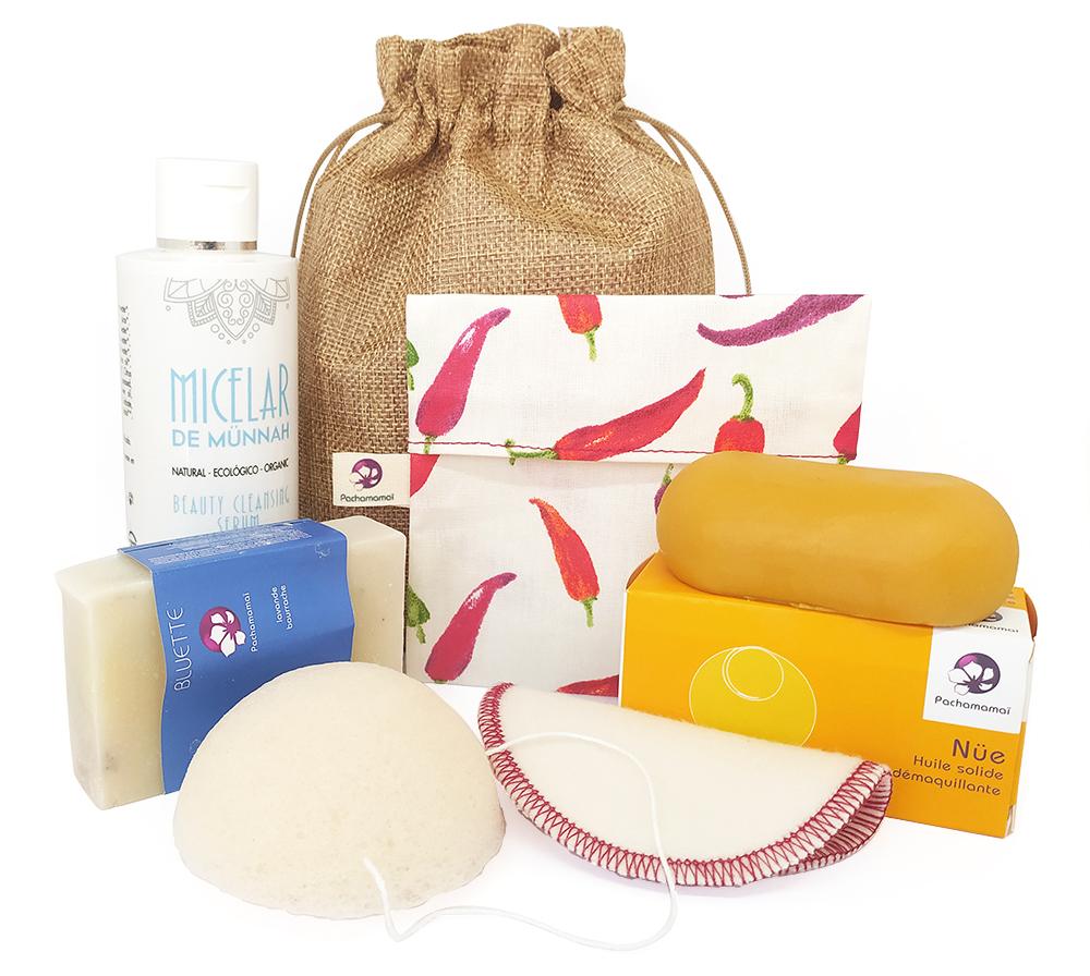 Pack higiene facial natural 2 – REGALO: Bolsita para jabón/champú