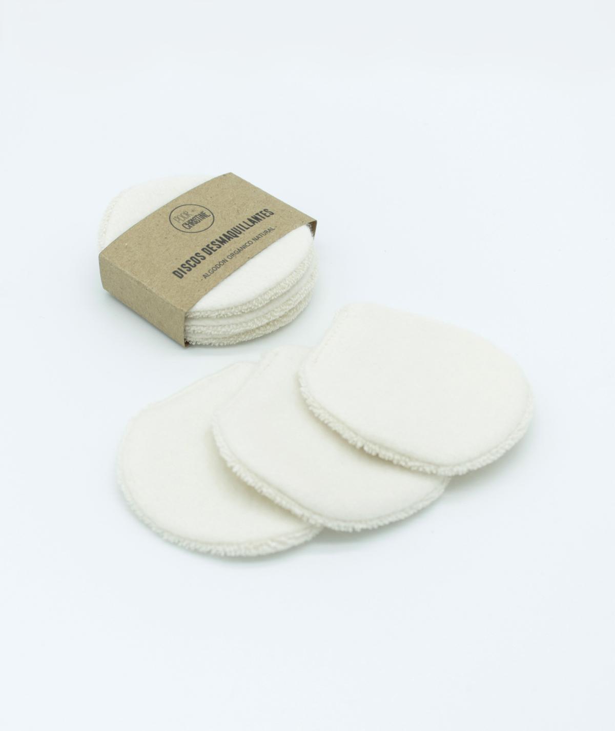 Pack 3 Discos Desmaquillantes Pequeños Reutilizables