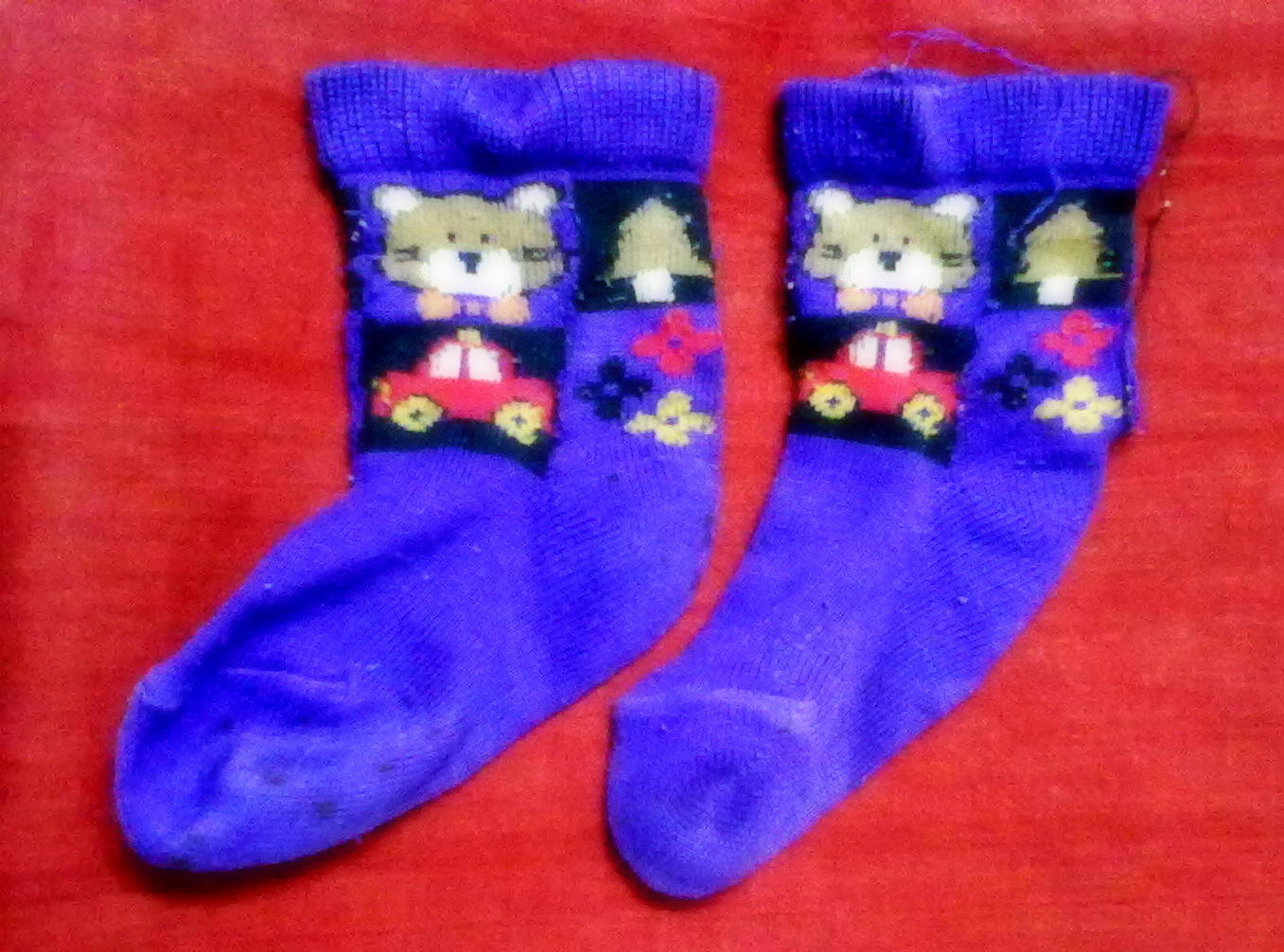 vidur sury blue socks