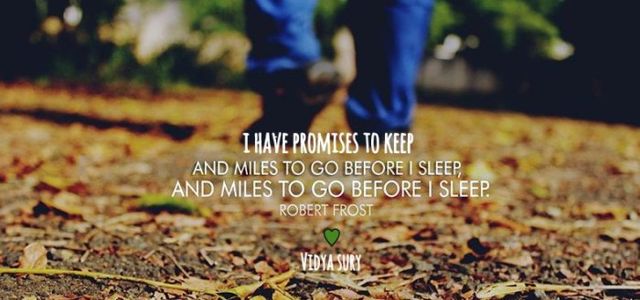 Promises to keep Vidya Sury