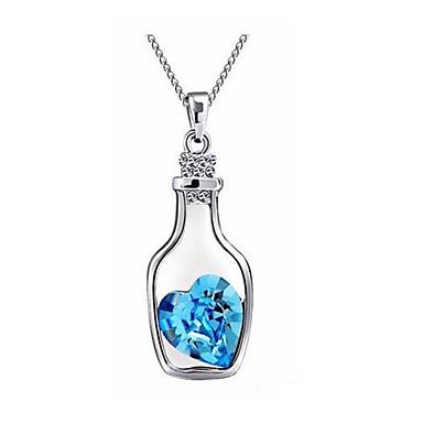 Women's Girls´ Pendant Necklaces Crystal Heart Cross