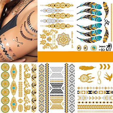 5 Pcs Tatuajes Adhesivos Los Tatuajes Temporales De Moda Punk Artes
