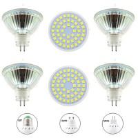 6pcs 4 W LED spotlampen 400 lm GU10 MR16 E26 / E27 48 LED kralen SMD 2835 Nieuw Design Warm wit ...