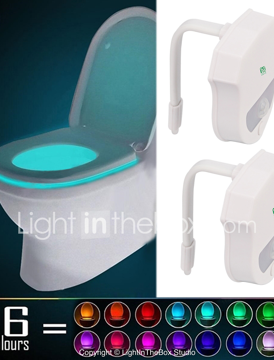 2 Pcs Ywxlight Ip65 16 Colors Motion Activated Toilet Night Light Fit Any Toilet Water Resistant Bathroom Night Light Easy Clean 6070809 2020 12 99