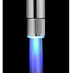 Led Kitchen Faucet Countertops Luminous Glow Light Up Water Shower Tap Nozzle Head Cheap Faucets