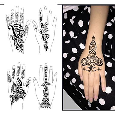 1 Pcs Non Toxic Talla Grande Tribal Los Tatuajes Temporales