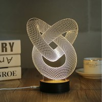 1 Set, Popular Home Acrylic 3D Night Light LED Table Lamp ...