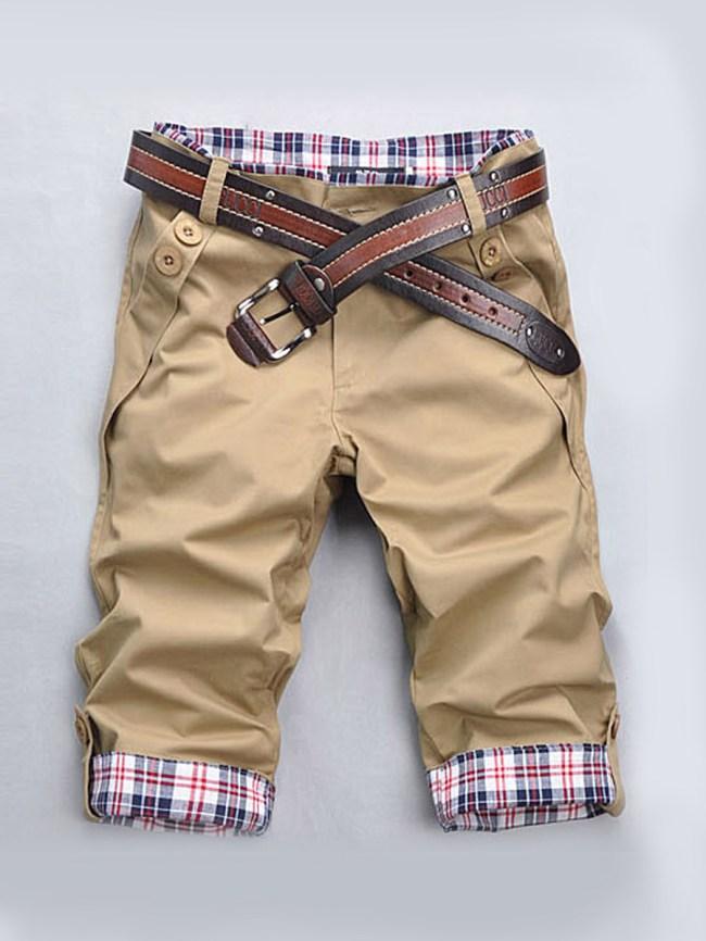 Fashionmia Plaid Patchwork Men's Cotton Short