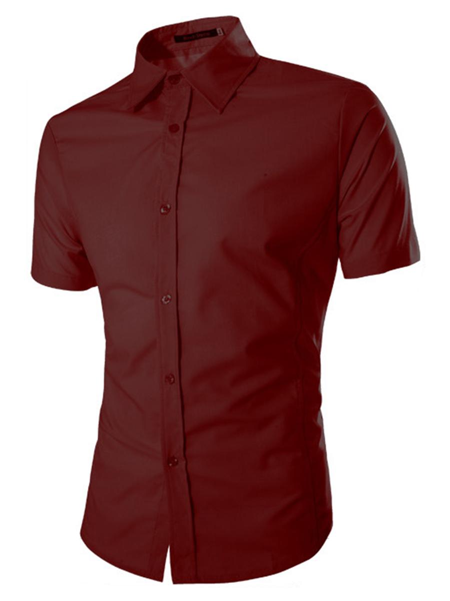 Basic Office Plain Men Shirts
