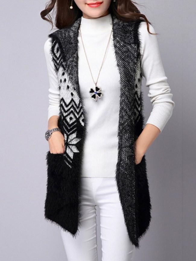 Fashionmia Animal Printed Sleeveless Waistcoat