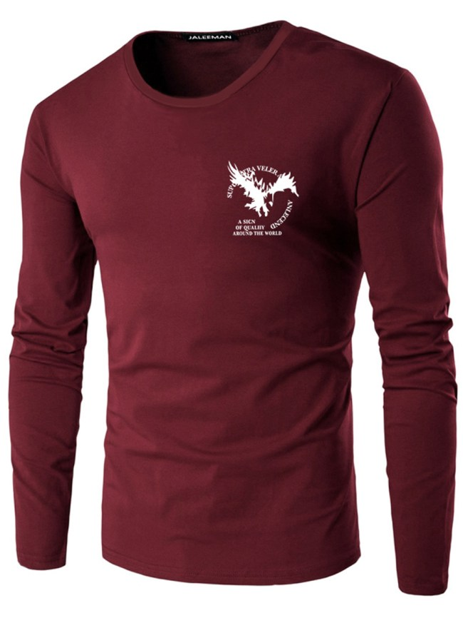 Fashionmia Round Neck Men Eagle Letters Printed T-Shirt