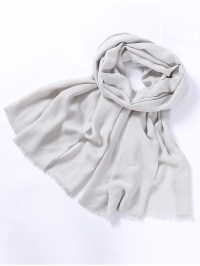 Women Solid Color Cotton Scarf Soft Long Warm Wrap Shawl ...