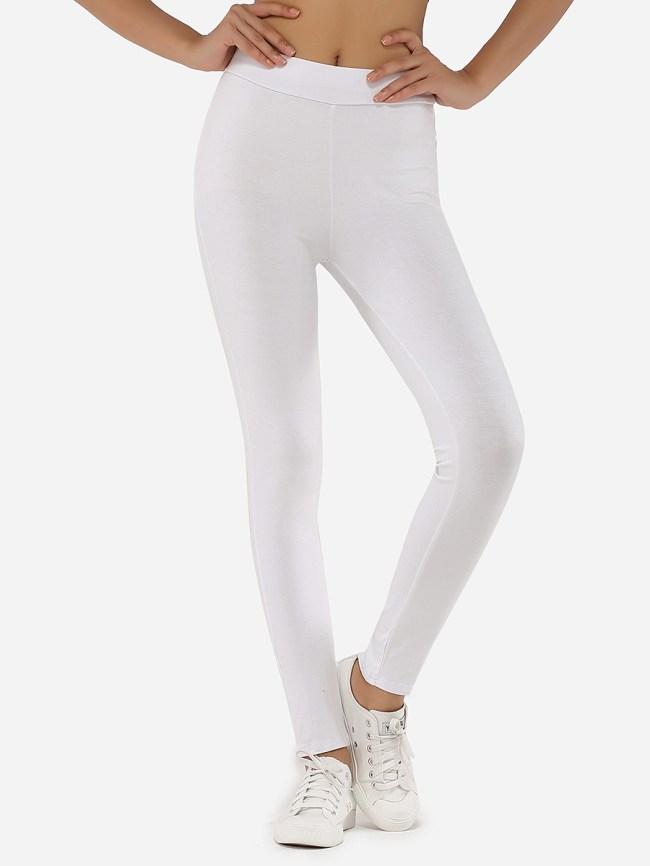 Fashionmia Zips Cotton Plain Leggings