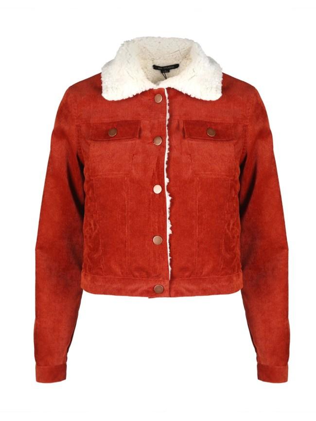 Fashionmia Lapel Flap Pocket Corduroy Jacket