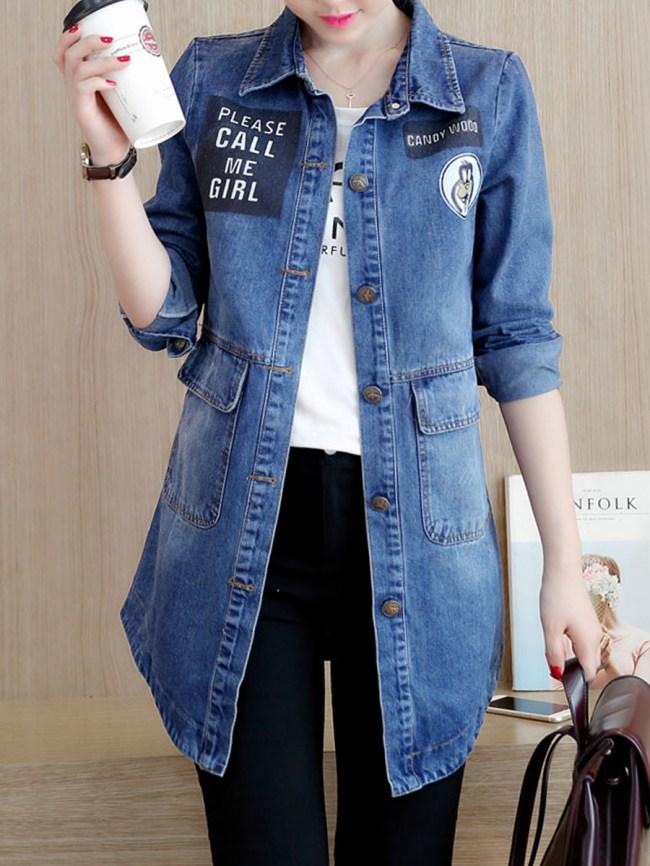 Fashionmia Flap Pocket Single Breasted Long Sleeve Coats