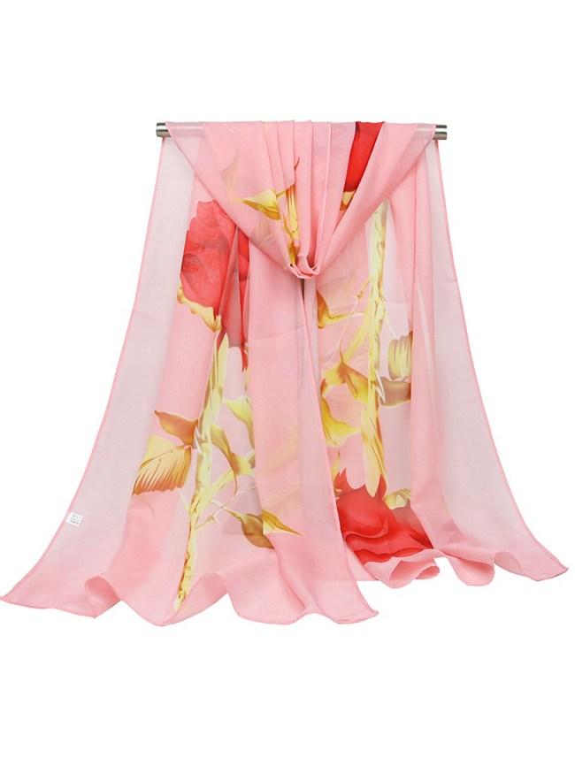 Fashionmia Chiffon Floral Printed Scarves