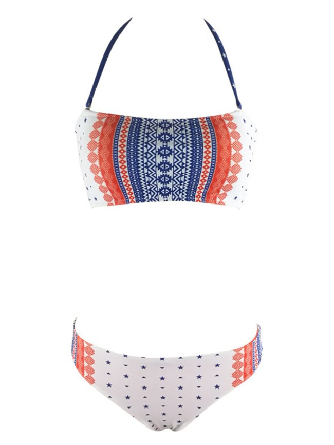 Fashionmia Lovely Halter Printed Bikini