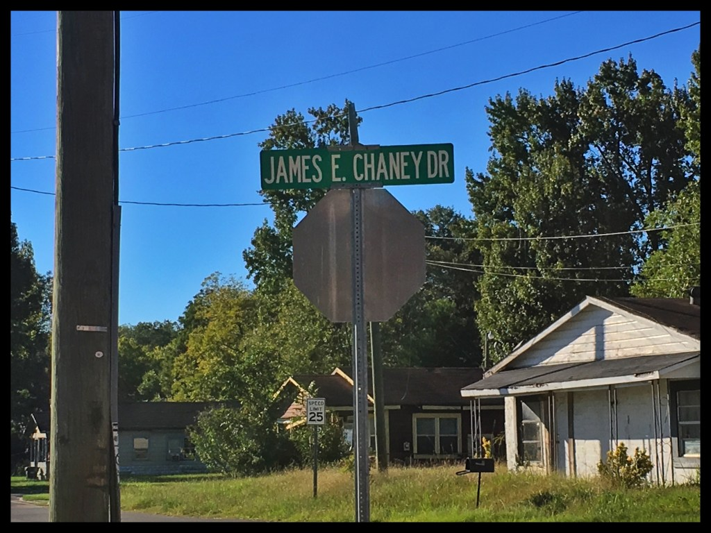 James E. Chaney street sign