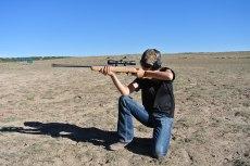 Kneeling shooting position