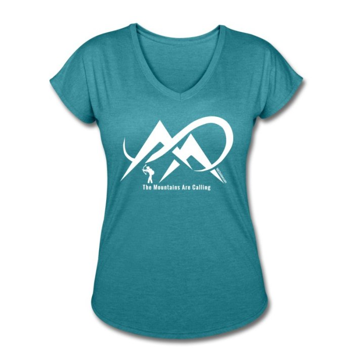 bowhunter-the-mountains-are-calling-white-logo-women-s-tri-blend-v-neck-t-shirt