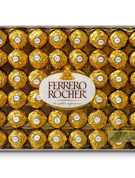 Ferrero Rocher, Hazelnut Chocolates, 48 ct