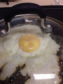Thin white layer= egg is done!