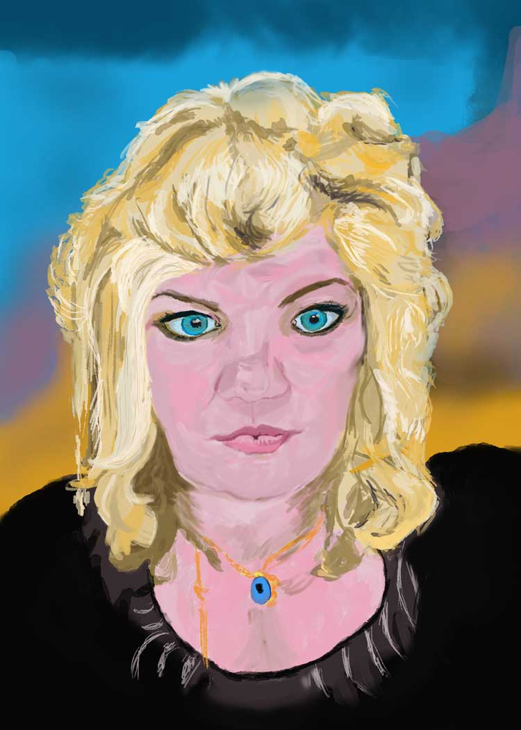 Digital Paining of Sylvia aka Bella