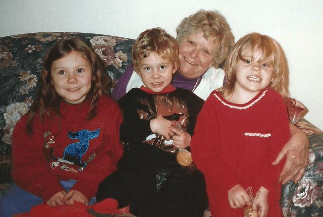 Raisa , Devin Grandma Steadman and Sarah in 1997