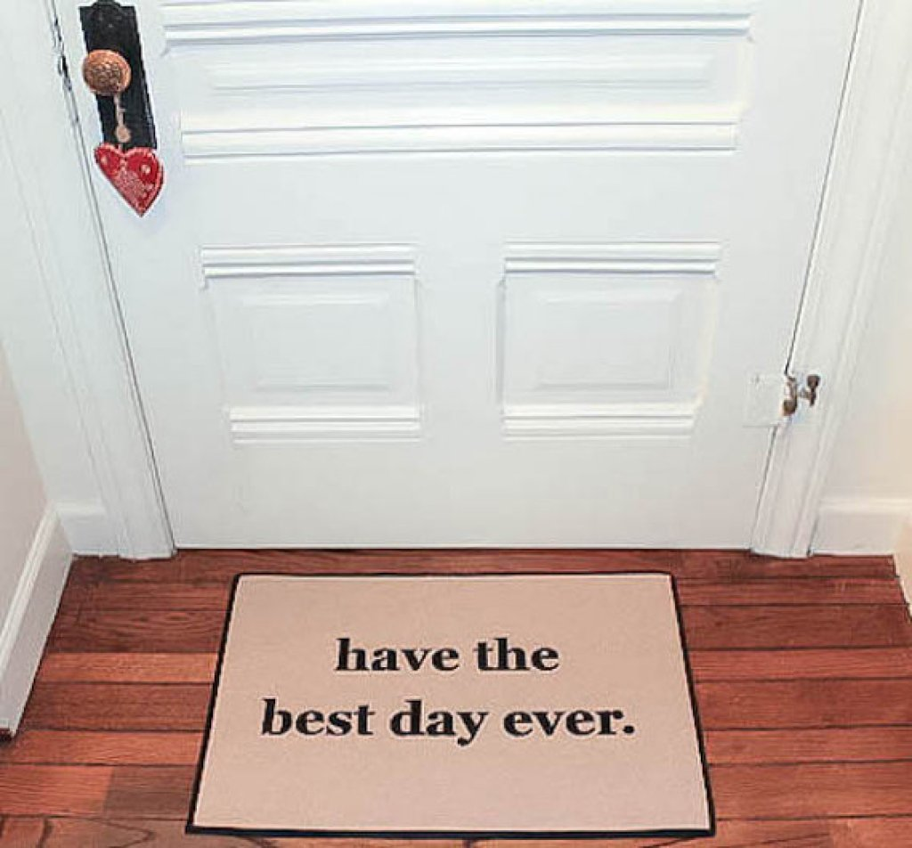 affirmative door mat
