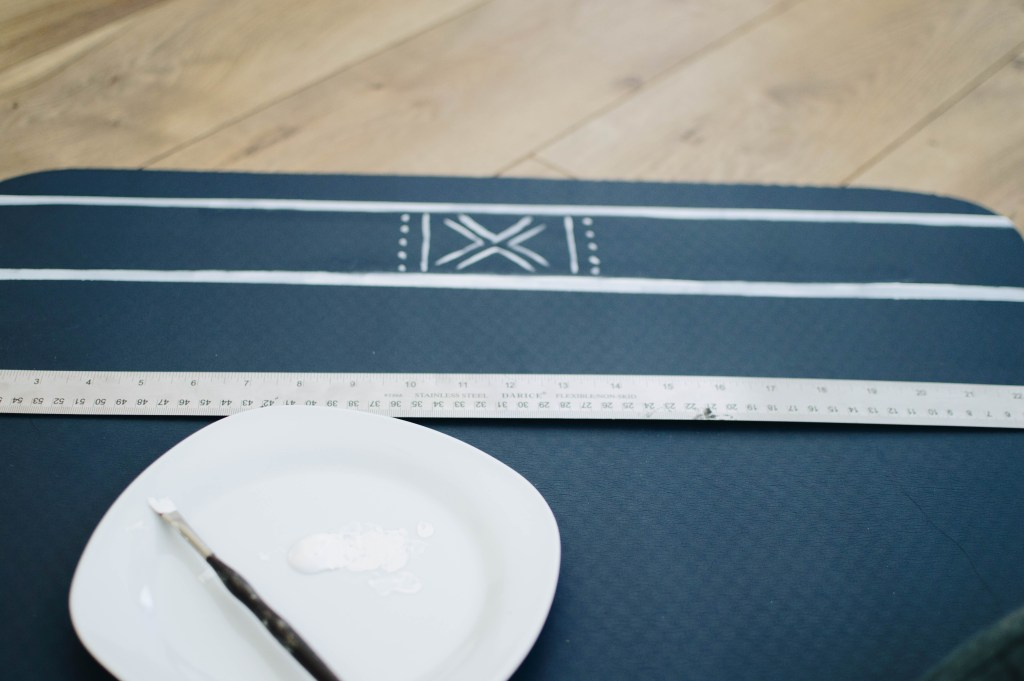 painted yoga mat