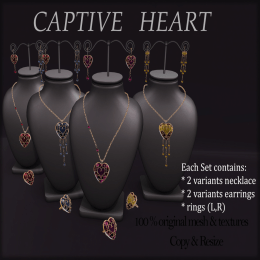 _AvaWay__Captive Heart_Jewelry Set (4 colors)