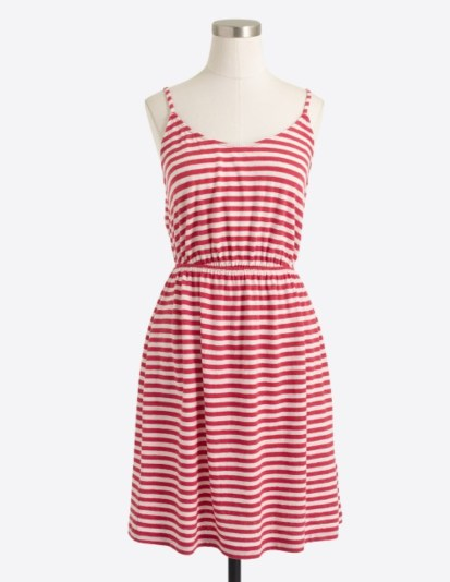 jcrew factory stripe dress