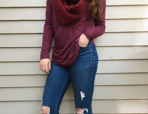 the perfect berry sweater for fall