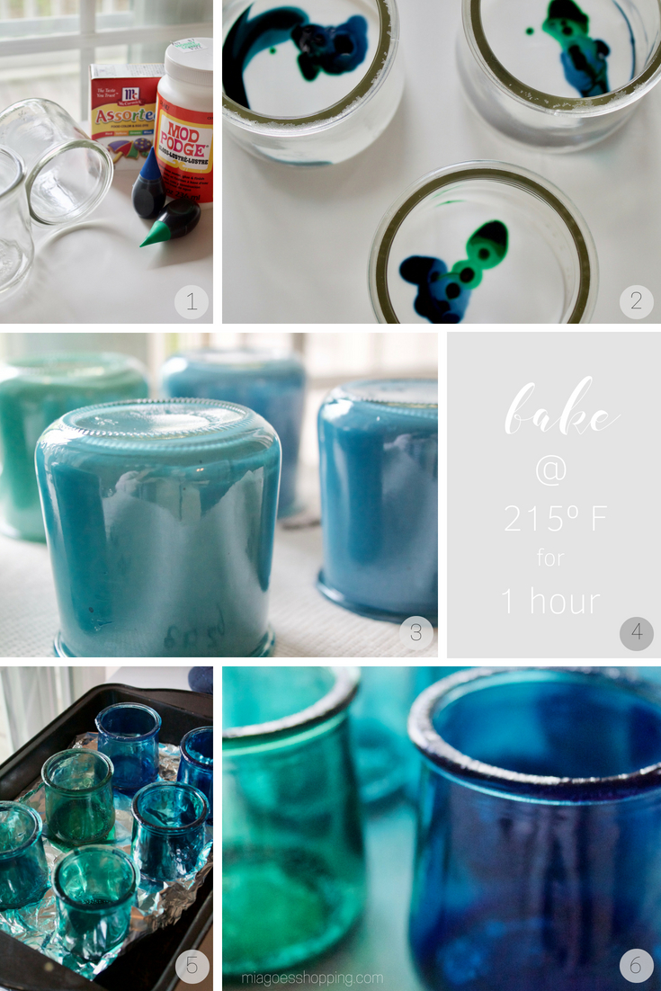 Diy Colored Oui Jars Mia Goes Shopping