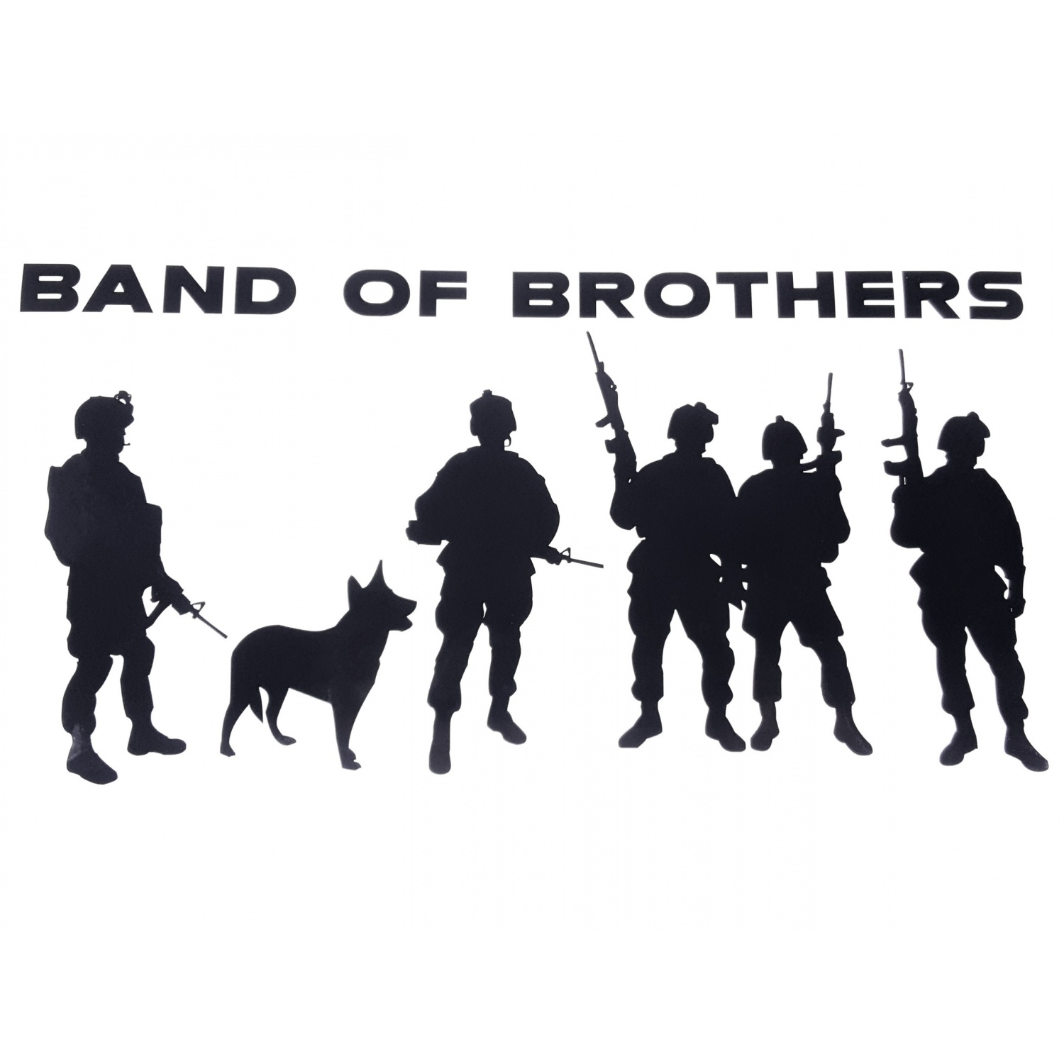 Huge 12 5inch Long Military Decal Band Of Brothers